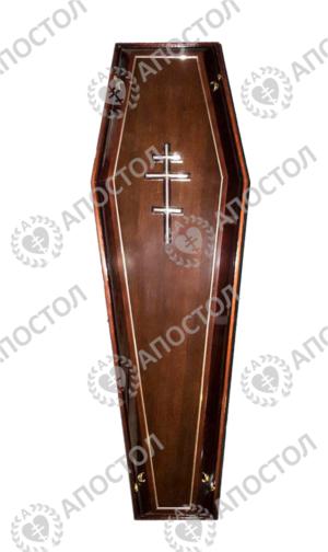 Гроб для похорон темный лак