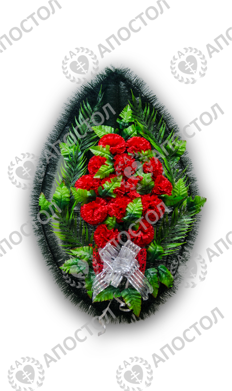 Похоронный венок с цветами гвоздики