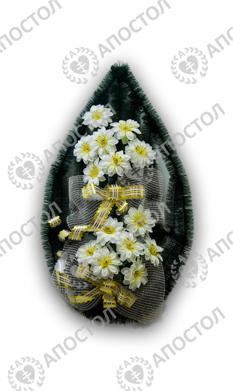 Похоронный венок с георгинами