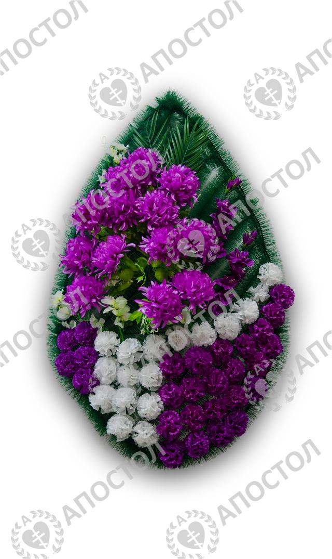 Похоронный венок с герберами и гвоздиками