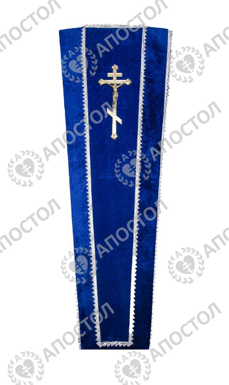 Синий бархатный гроб для похорон